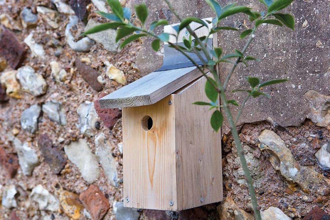 nestkast ombouwen tot winterverblijf voor vogels